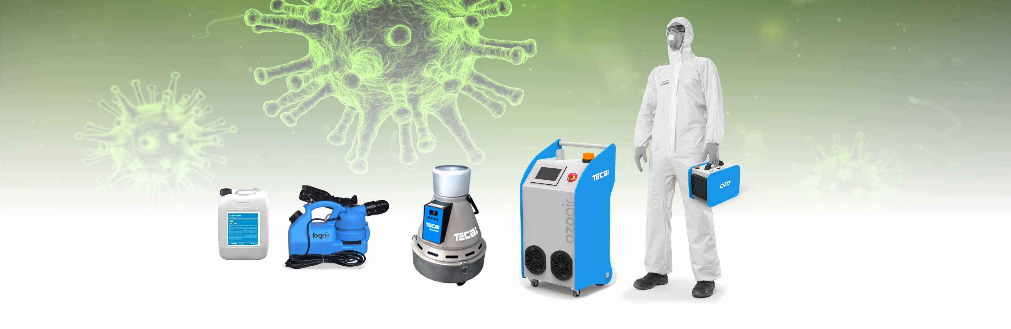 attrezzature per la disinfezione dei virus