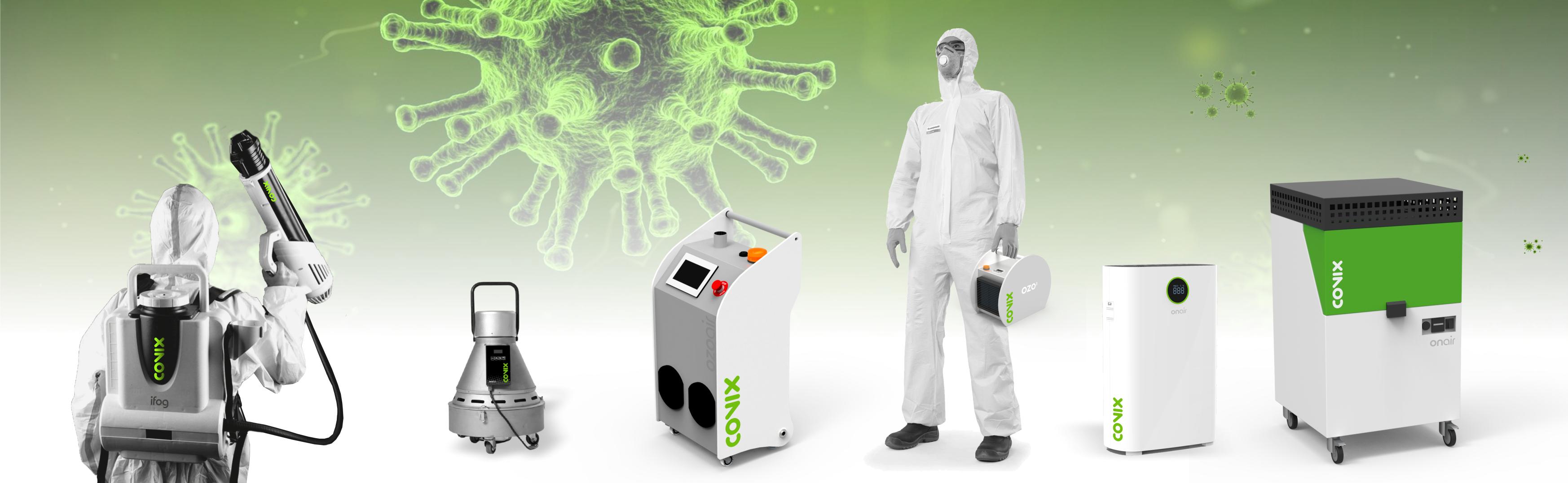 attrezzatura per la disinfezione dei virus