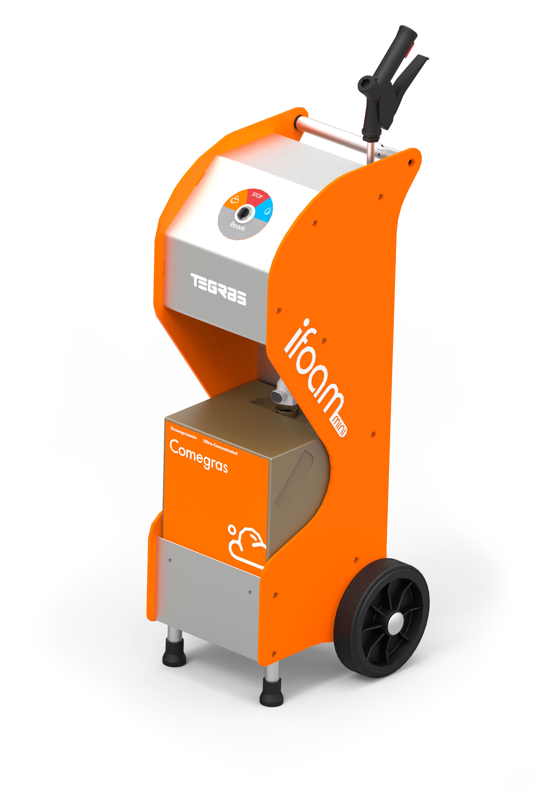Generatore di schiuma alcalina e apparecchiatura di risciacquo a bassa pressione